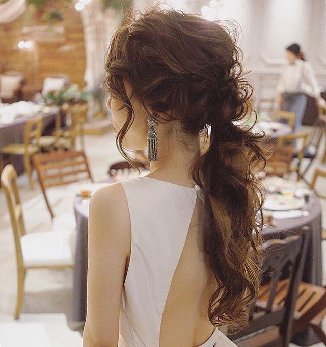 お色直し作ってるけど抜け感を意識して作りました☺️ アムサーラのドレスも素敵だった