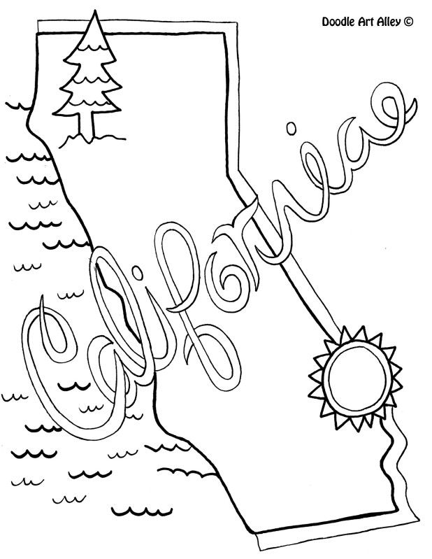california coloring pages California Coloring Page by Doodle Art Alley | USA Coloring Pages  california coloring pages