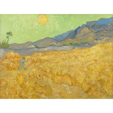 Reprodukcje obrazów Vincent van Gogh Wheatfield with a Reaper - Fedkolor