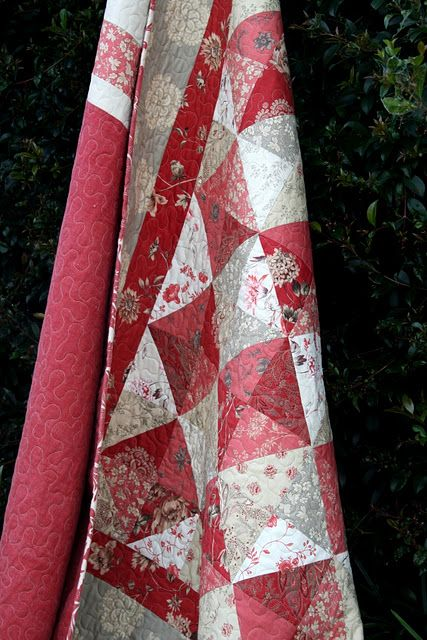 love the grayish taupe with the red...French General fabrics. I have charm squares and yardage...love the reds. Also have jelly roll.