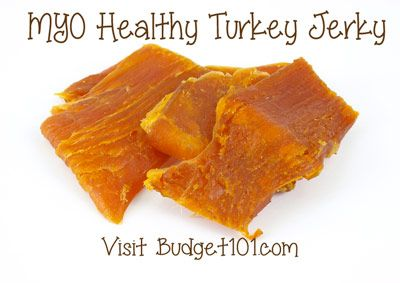 Homemade Turkey Jerky - Recipe for oven or food dehydrator