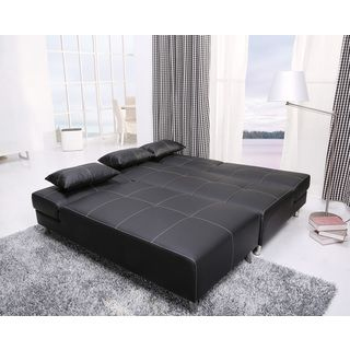 Atlanta black white stitching convertible sectional sofa bed and chaise set stitching Sofa beds atlanta