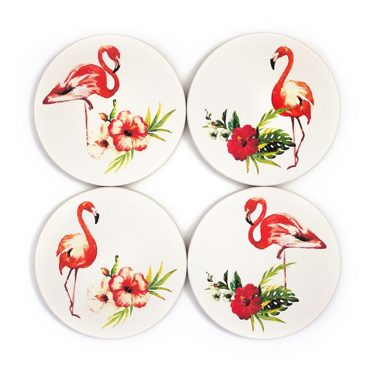 These tropical coasters add the perfect flair of paradise, all while keeping what matters clean. Find it on the site!