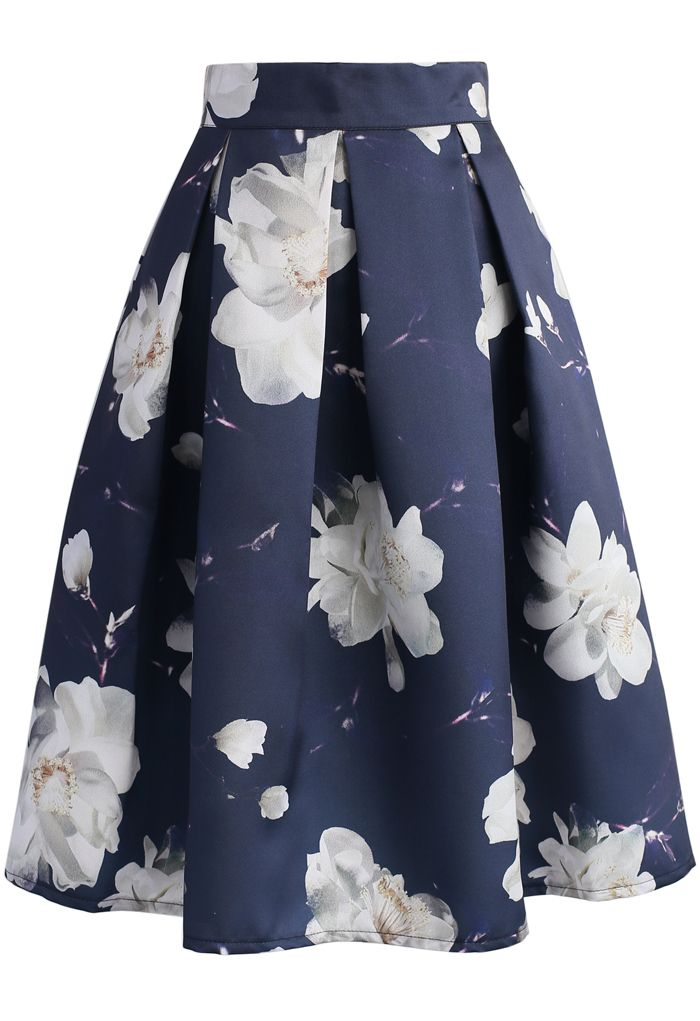 Jasmine Night Printed Midi Skirt - New Arrivals - Retro, Indie and Unique Fashion