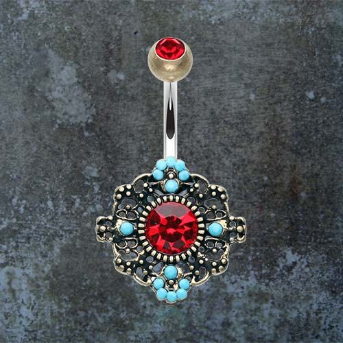 Hey, I found this really awesome Etsy listing at https://www.etsy.com/listing/264666080/boho-turquoise-belly-button-ring