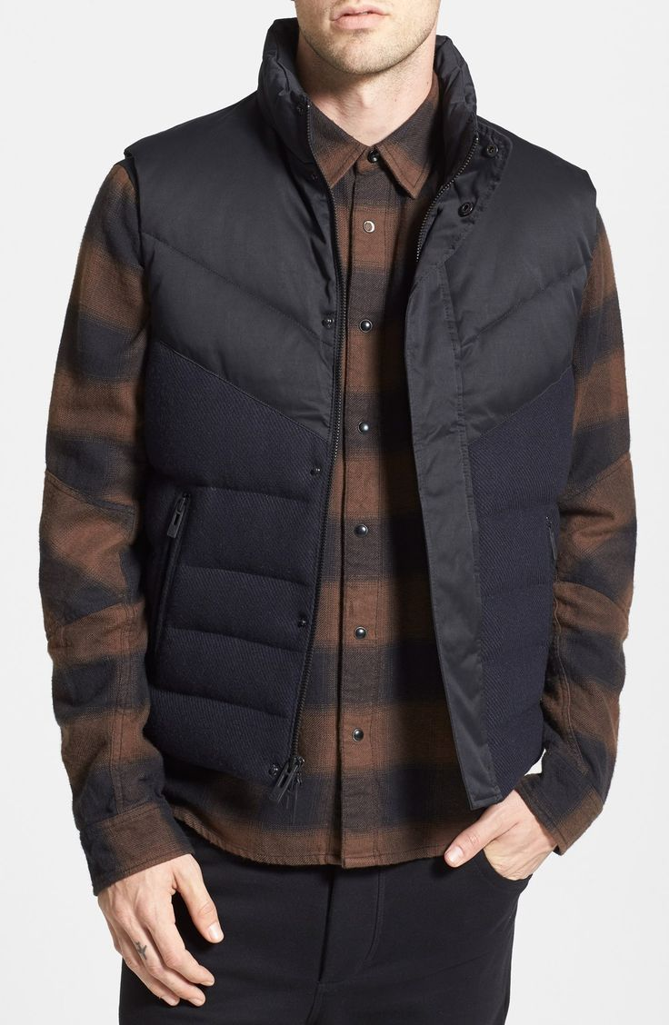 Stay warm in style with a cool puffer vest.