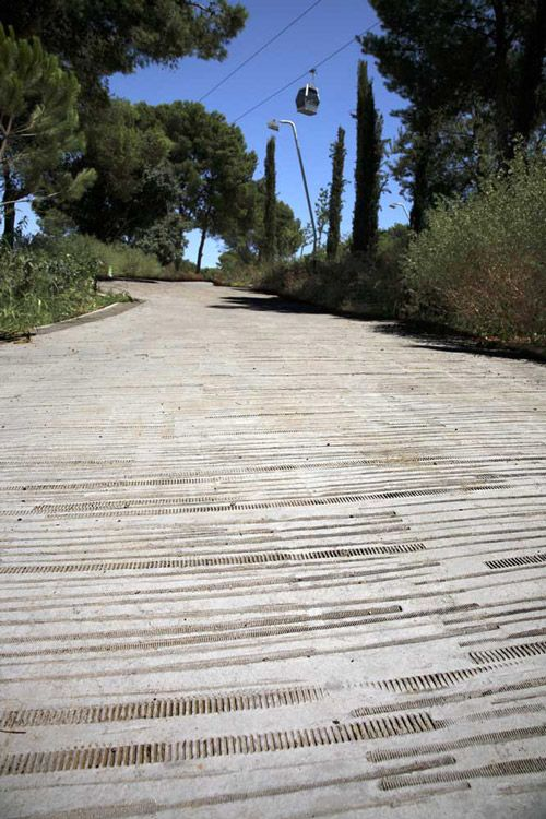great texture on this walkway Montjuïc Heights by Forgas Architects