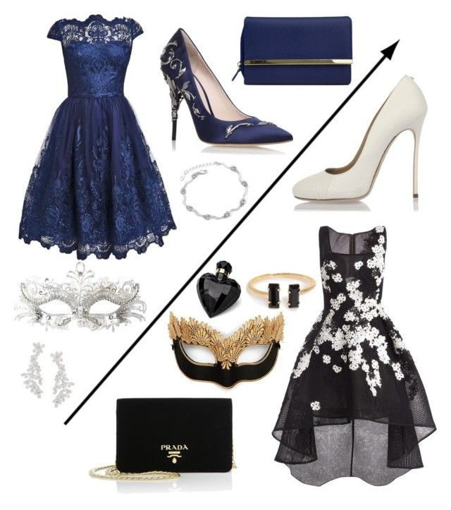 """Prom #4"" by siggan22 on Polyvore featuring Jovani, Dsquared2, RALPH & RUSSO, Mundi, Prada, Masquerade, Lipsy and Kate Spade"