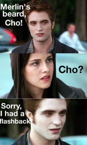 BAHAHAHAHAHA! Forever Cedric Diggory! LONG LIVE CEDRIC! He was brainwashed by the evil world of twilight! BOOOO TWILIGHT! GIVE US OUR CEDDY BACK!