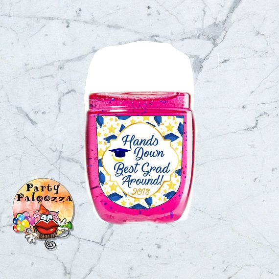 Printable Graduation Hand Sanitizer Label Hand Sanitizer