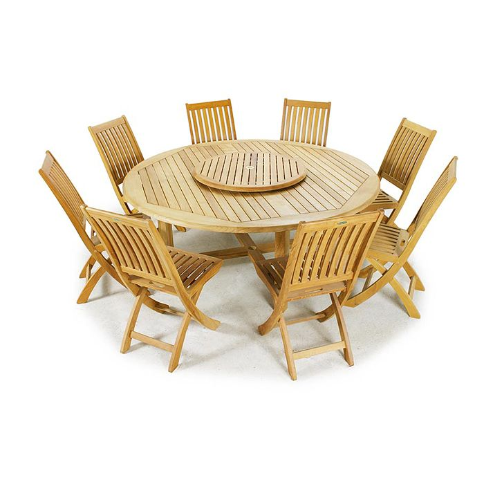 17 best images about dining for 8 12 on pinterest armchairs teak and extensions - Round teak table and chairs ...