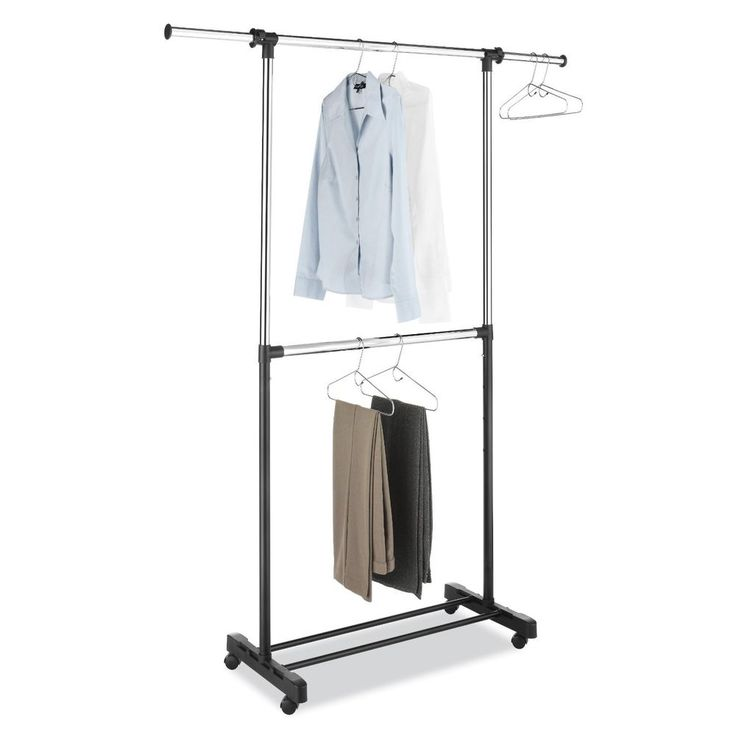 Portable And Expandable Garment Rack In Black Chrome 18 Months Glamorous 8 Best Closet Ideas Images On Pinterest  Coat Hanger Clothes