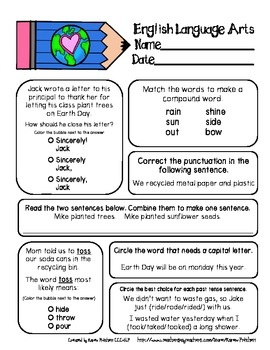 Printables 5th Grade Test Prep Worksheets 1000 images about worksheets on pinterest common cores cursive earth day morning work for 2nd grade math and ela the whole week