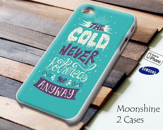 Disney Frozen Quotes 1 Case for iPhone 4/4S iPhone 5/5S/5C and Samsung Galaxy S3 S4 on Etsy, $13.99