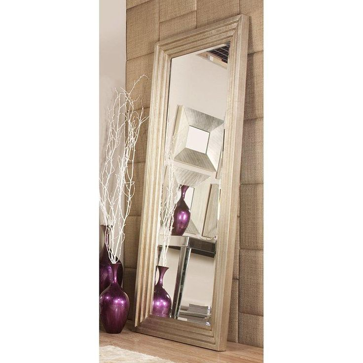Have to have it. Howard Elliott Delano Silver Leaf Oversized Full Length Mirror - 34W x 82H in. - $399.99 @hayneedle