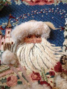 Perfect turkey work and interesting Santa beard.