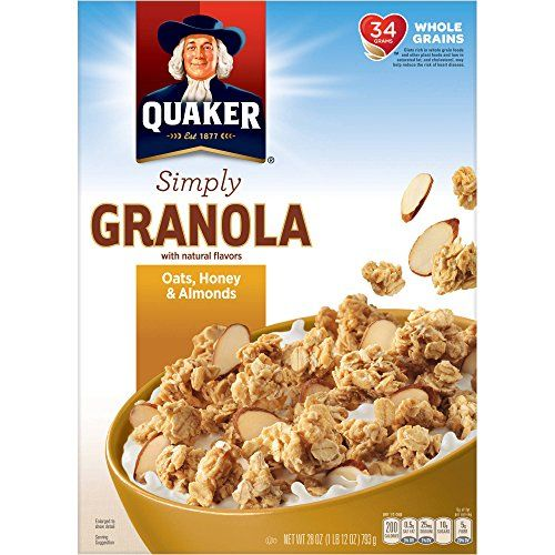 Natural Granola Cereal   Add chocolate and dried fruit, put it in a bag. Your ready to go...