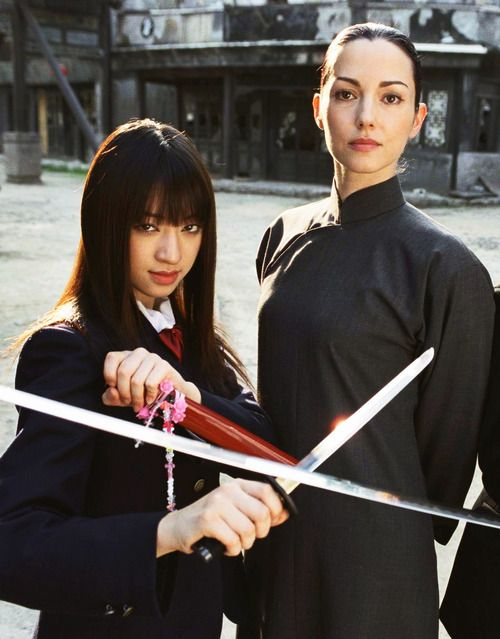 Chiaki Kuriyama as Go Go and Julie Dreyfus as Sofie Fatale in Kill Bill vol 1