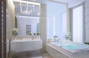 Ванная комната 14 m2. Architect Irina Richter. INSIDE-STUDIO Prague
