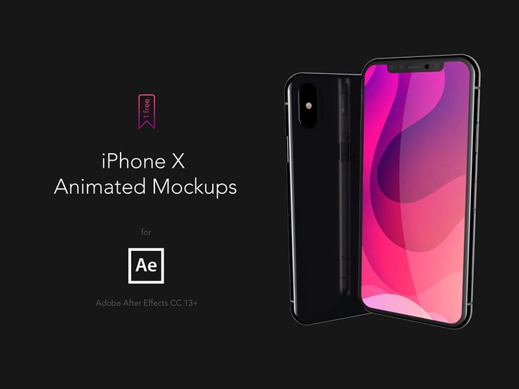Iphone X Ae Animated Mockups 4k60fps Iphone Iphone X Mockup