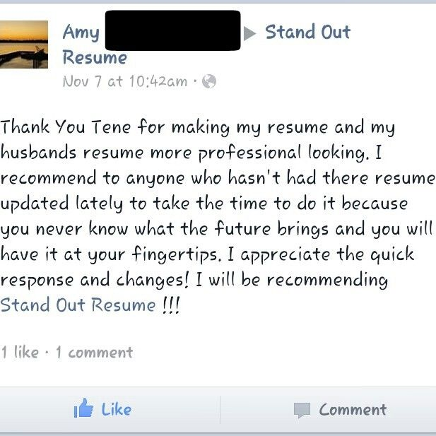 More great client reviews! Client purchased a Resume Upgrade ($6999 - how you do a resume