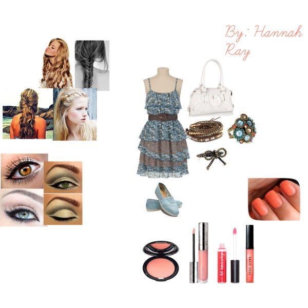 """summer look #3 (dressy)"" by hannah-ray on PolyvoreSummer Looks, Hannah Ray"