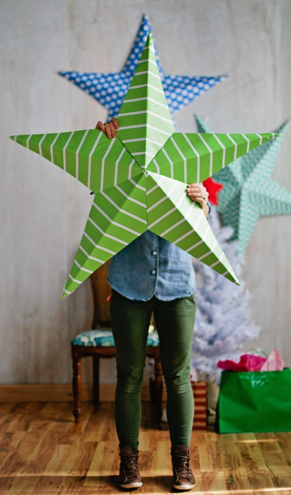 Since you guys loved our summer stars so much, I thought we should definitely do something star studded for the holidays. Since this time of year is so special, it seemed best to go very BIG with the stars. I love the look of these huge paper stars behind a Christmas tree or sporadically placed...Read More