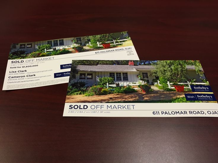 Real Estate Postcards Just Listed Just Sold Marketing Design Graphics Vertical Printing