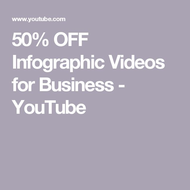 50% OFF Infographic Videos for Business - YouTube