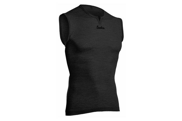 Isadore - 100% Merino Sleeveless Baselayer Black #cyclingmemories