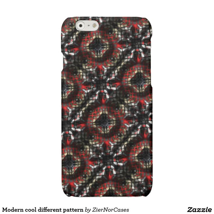 Modern cool different pattern glossy iPhone 6 case