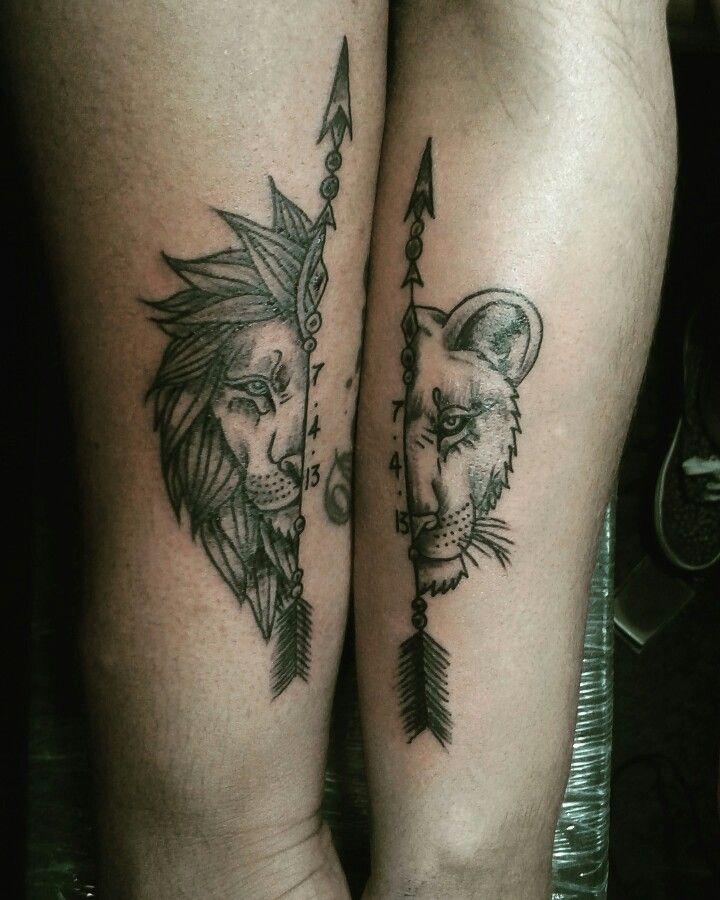 Leon Y Leona Tatuajes Para La Pareja O La Amistad Pablitotattoodc