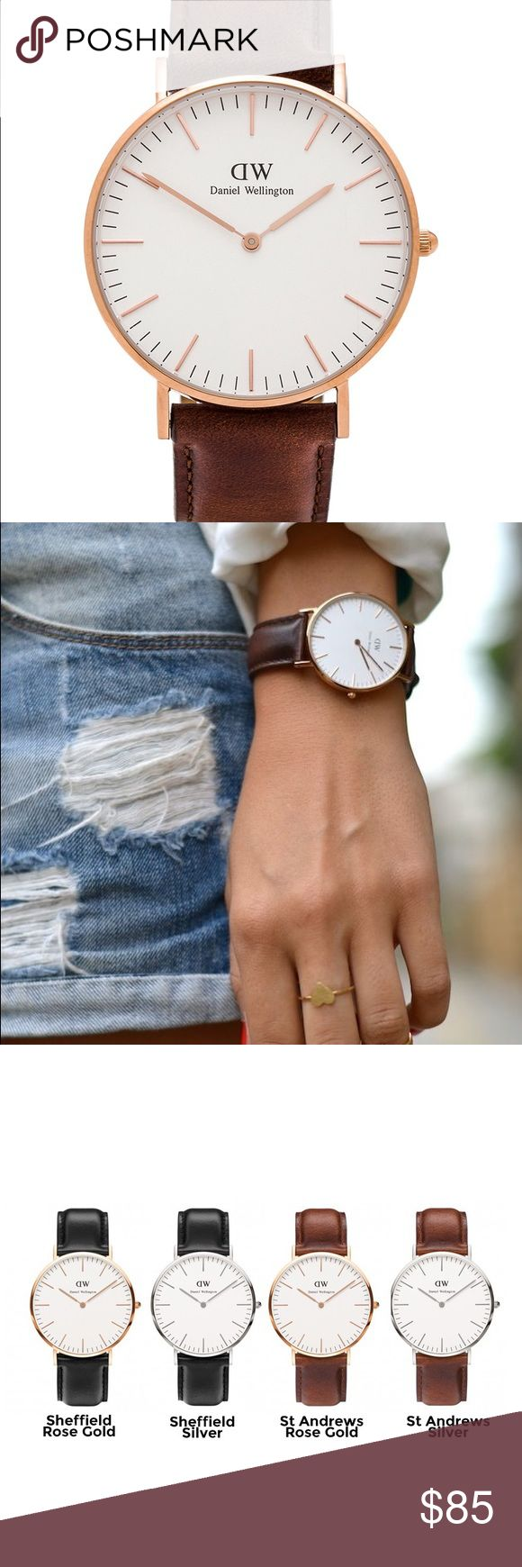 Daniel Wellington Classic St Andrews 36mm Authentic Classic St Andrews Daniel Wellington watch with brown leather straps - like new! Watch face is 36mm Daniel Wellington Accessories Watches