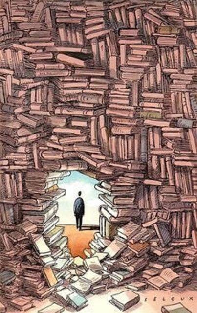 Egy-két mondat: Könyvek - Books - A könyveknek sokszor ugyanaz a szerepe, mint az ajtóknak… megnyitnak egy lehetőséget, hogy rajtuk keresztül belépj egy másik világba… - Németh György