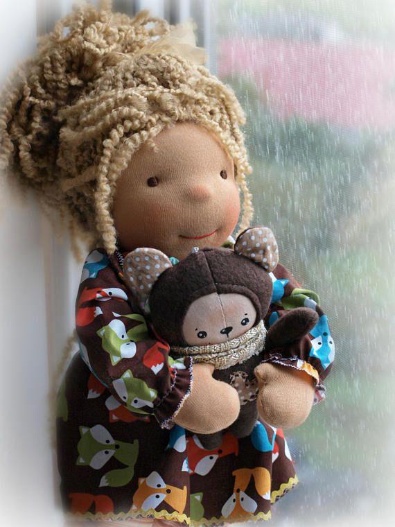 Waldorf doll cloth doll rag doll handmade doll fabric