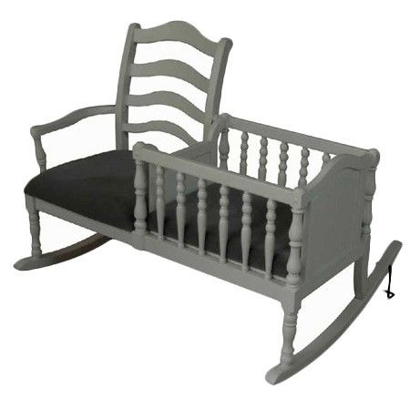 Hey... I have seen these in pictures before and thought they are a great idea.  Now I have actually found one this #Rocking #Cradle #Chair from Joss & Main. If you know someone handy with wood I'm sure you could make this a DIY project!