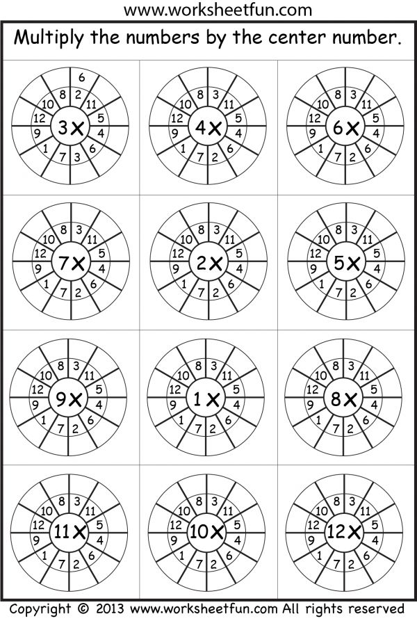 1-12 times table random worksheet. Perhaps make individuals wheels rather than worksheet.