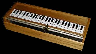 Tannerin -he Tannerin produces a pure sine wave, variable over three or four octaves. It is played by sliding a knob along the length of the instrument, starting and stopping the tone with a contact switch located on the pitch knob and operated by one's forefinger.
