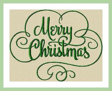 Machine Embroidery Design Merry Christ Mas