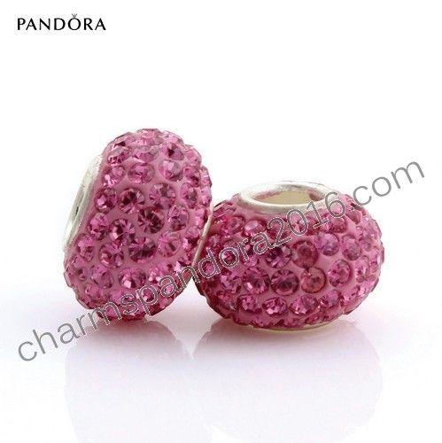 Pandora Bijoux Pas Cher - Pandora Store Argent 925 Perle Rose Sz319-1 - Pandora Bijoux Pas Cher Pandora Store Argent 925 Perle Rose. ❤