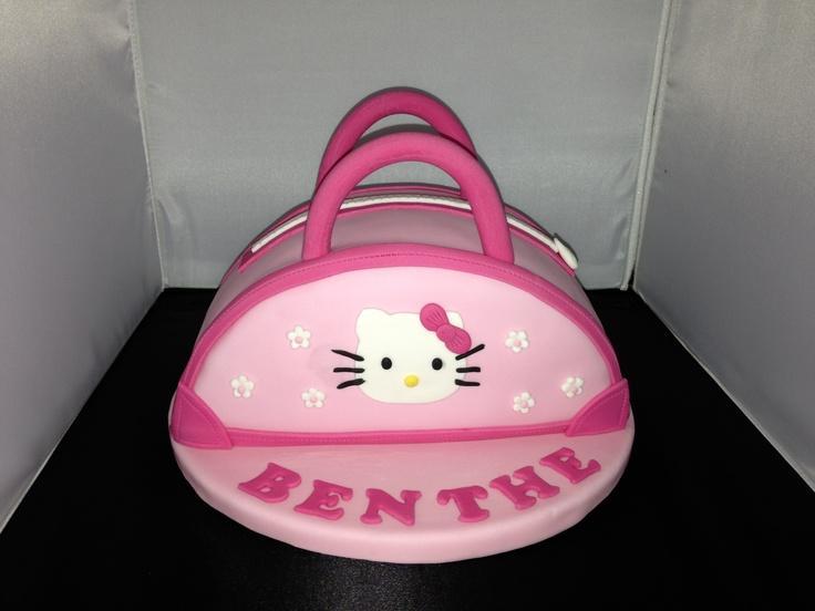 Taart handtas Hello Kitty cake