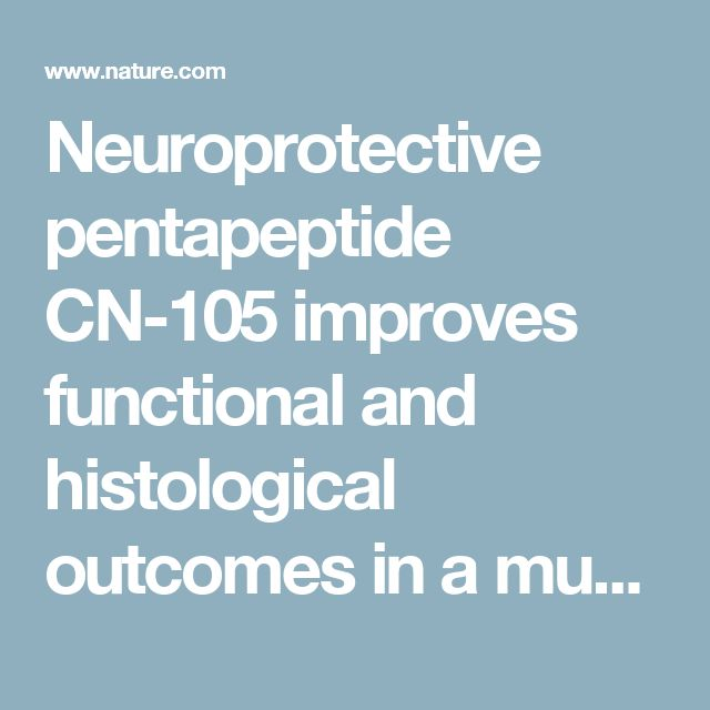 Neuroprotective pentapeptide CN-105 improves functional and histological outcomes in a murine model of intracerebral hemorrhage | Scientific Reports
