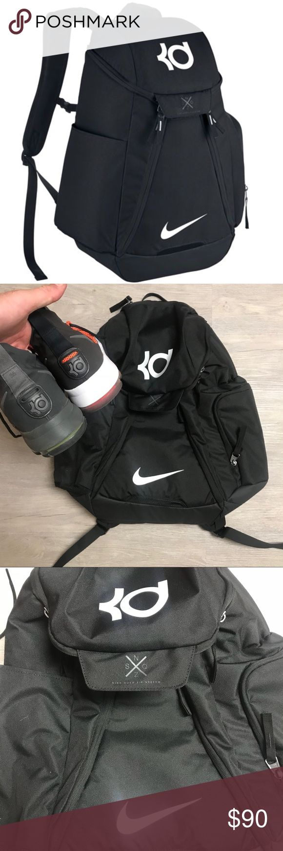 "NWT NIKE🏀🎒 KD HOOPS ELITE BACKPACK VERY SPACIOU BRAND NEW NIKE 🏀🎒🔥KD HOOPS ELITE BACKPACK ""LOTS OF ROOM"" CAN HOLD BALL AND SHOES ETC. 100% AUTHENTIC.   ""NO TRADES""  ALL DISRESPECTFUL OFFERS GET BLOCKED!!!   ALSO, I DO NOT DISCUSS PRICING IN THE COMMENTS EVER!!!!  SHIPS SAME OR NEXT DAY FROM MY SMOKE FREE HOME.   REASONABLE OFFERS WILL ONLY BE CONSIDERED THROUGH THE OFFER BUTTON. ANY OFFERS IN COMMENTS WILL BE IGNORED.   BUNDLE DISCOUNT SUBJECT TO MY APPROVAL. ✨   TRUSTED RELIABLE…"