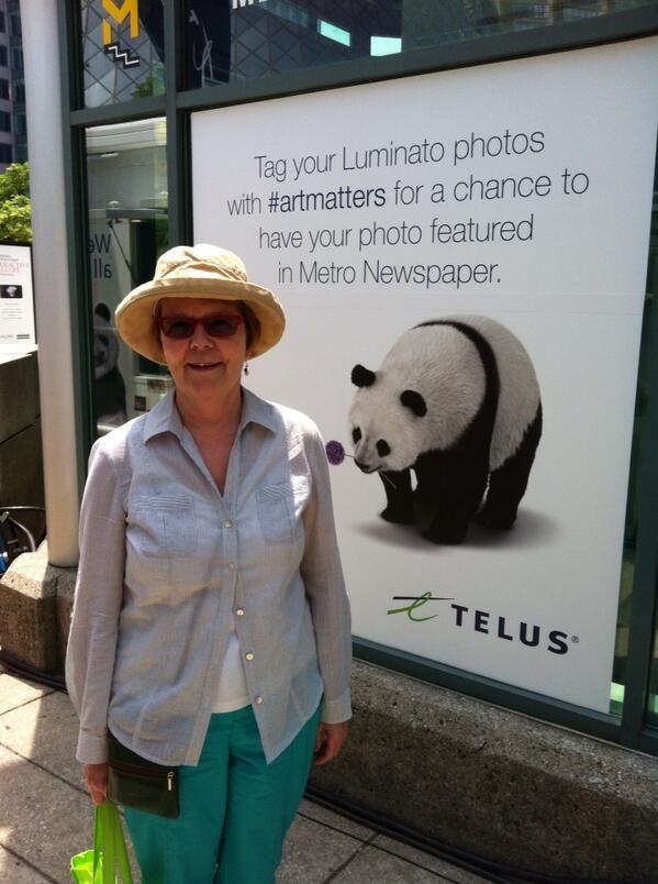 Thanks Patricia! #Luminato #artmatters via twitter @Patricia Jones
