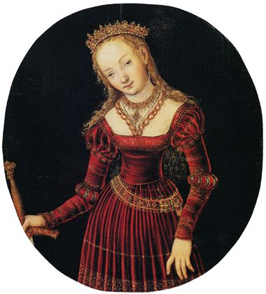 http://museolia.spezianet.it/images/opere/inv_249_big.jpg Lucas Cranach the Elder. St. Catherine of Alexandria. c. 1530