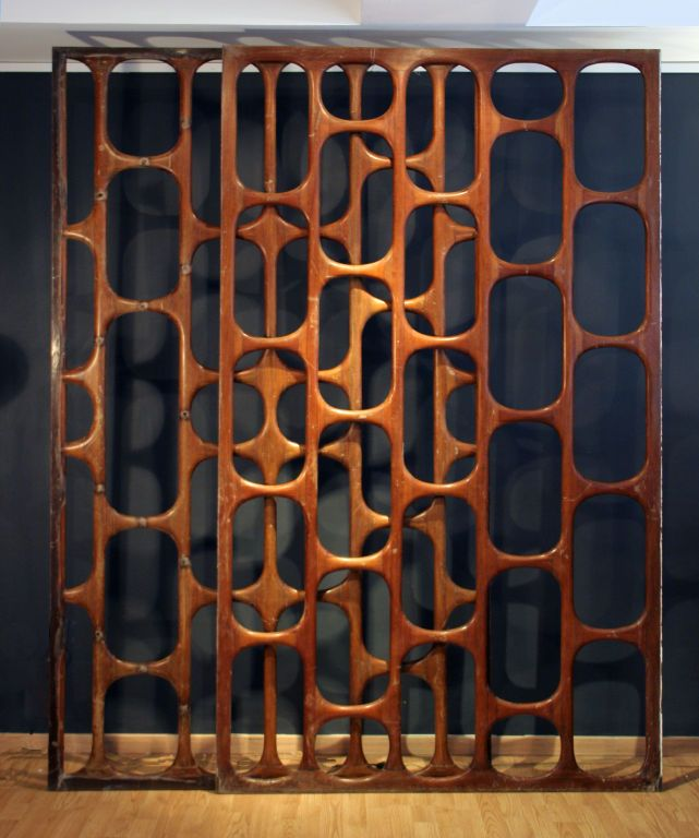 mid century modern screen room divider partition retro vintage wall geometric in home garden furniture other - Mid Century Modern Furniture Of The 1950s