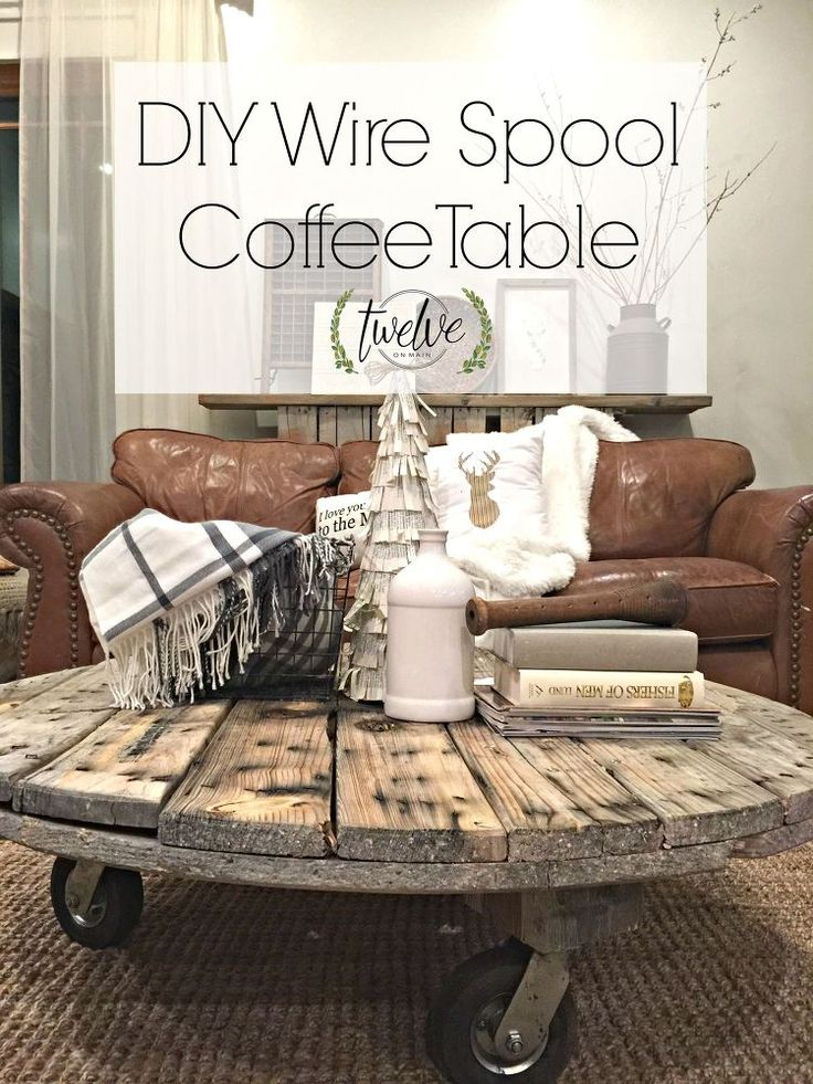 DIY Wire Spool Coffee Table - would love this for outdoors!