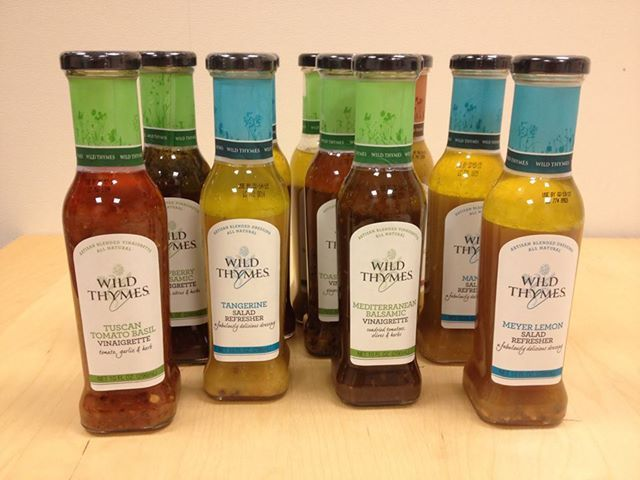 Healthy Food Find! Go on and drizzle these Wild Thymes Salad Refreshers and Vinaigrettes onto your salad. They're low calorie and made with all natural ingredients. Plus…the flavors are AMAZING. My favorite was the Raspberry Balsamic, but they all are really great.
