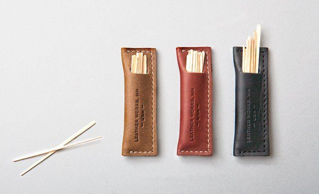 Fancy leather toothpick holder odds ends pinterest leather - Toothpick holder for purse ...