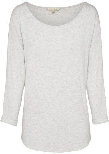 Liz Collection Boat Neck Top $99.95 AUD  3/4 roll sleeve marle knit top with boat neck, curved hem 98% Rayon 2% Spandex  Item Code: 046748